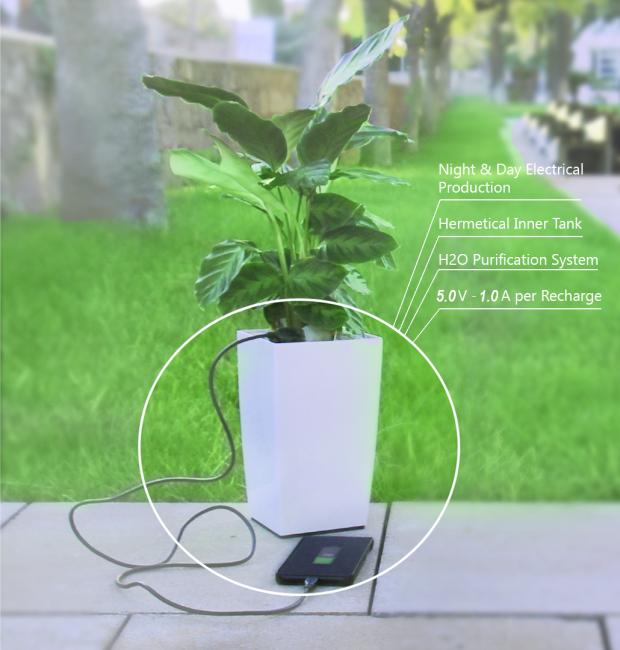 スマホを充電できる植木鉢Bioo Lite